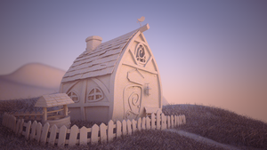little house clay render WIP by magdali-na