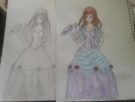 Black and White vs. Coloured xD (MdR) by otakujeanette