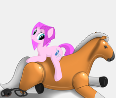 Horse riding a horse by OneWithSpitfire