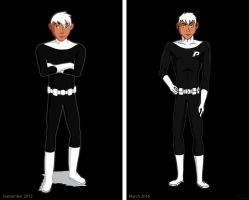 Then And Now (Danny Phantom Redraw) by RedMoonWhiteTiger