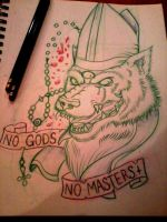 No Gods No Masters by CraftyTibbles