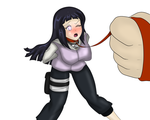 Hinata On leash by Momo-the-Bunny