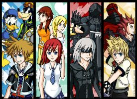 Kingdom Hearts 2 Bookmarks by Maxsterism