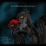 I will protect you Bloodpaw by Shadowfang5000