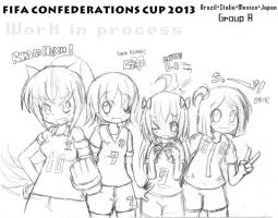 WIP - FIFA Confederations 2013 Brasil - Group A by EV133