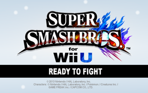 Super Smash Bros. for Wii U - Title Screen by DerpMP6