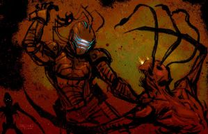 DEAD SPACE 3 video game concept art sketch by RayDillon
