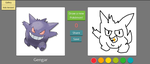 45 seconds Pokedraw Gengar by V-P-aurore-star