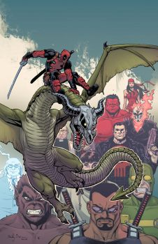 Deadpool, Dracula's Gauntlet #6 by ReillyBrown