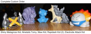 Completed Order (1) Pokemon Repaints by PleinairBunny