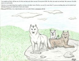 Wolf Family by Storm-Cwalker