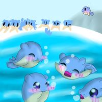 A spheal party by StarVeeWolf