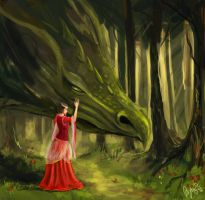 Separation - Lady and the dragon by Dunjochka