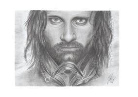 Aragon, The Last King, Graphite Pencil by Wazche