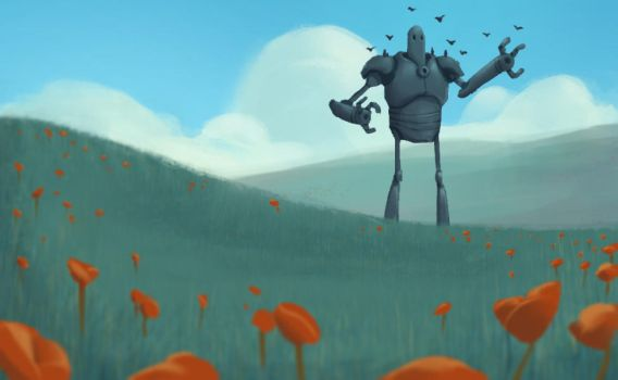 Mech In Field by Robosockmonkey