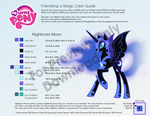 Nightmare Moon Color Guide by kefkafloyd