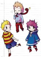 Mother 3 chibis by jinglestan