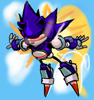 Mecha Sonic by thecosmosowl