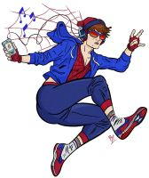 HIPSTER SPIDER-MAN by BeeBoyNYC