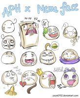 APH: Mochi and meme faces by Puyo0702