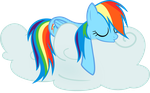 Rainbow Dash Snoozing Away by EMedina13