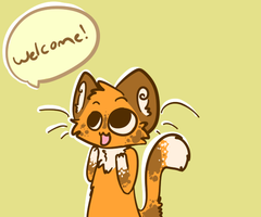. :WELCOME: . by Freckled-Kat