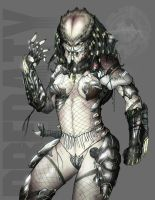 Dark Huntress: Female Predator by CorruptionSolid