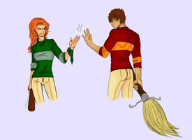 Quidditch Captains by SkyDominic