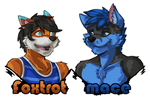 Foxtrot and Mace Badges by Utakoloid