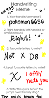 Handwriting Meme by pokemon6656