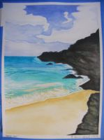 Makena Watercolor by StephaniTheArtist