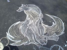 Chalk Wolf by Dream-Demond