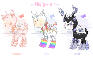 Fluffycorns set1 CLOSED by KimmyPeaches