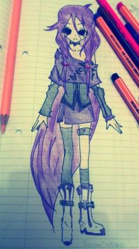 purple anime drawing by KnightsWalker912
