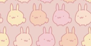 KAWAII DESU BUNNY TILE by genicecream