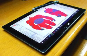 Microsoft Surface Pro,My new Tablet :D and new WIP by Unreal-Forever