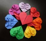 Origami Hearts by OrigamiPieces