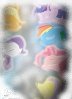 MLP Main Cast Ice Storm by goina