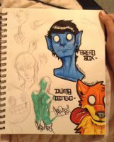Sketchbook page by Dingo4graff