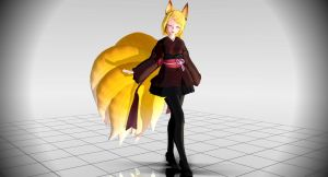 MMD TDA Nine Tailed Fox Rin [Model Download] by JukoTheLilFox