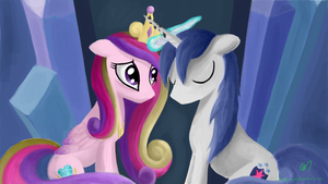 Cadence and Shining armor-useless together by Greeny-Nyte