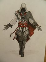 Ezio Auditore colored by ilya233