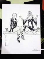 WWPhilly 2012: Black Canary, Mockingbird by E-Mann