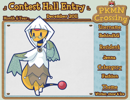 PKMNC - Jenna's Contest Hall Entry December 2011 by TamarinFrog