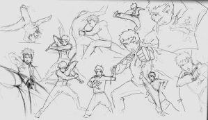 Sketches Movement study by yuzchris