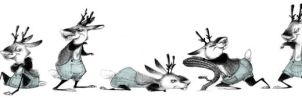 Jackalopes--poses by betsybauer