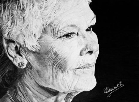 Dame Judi Dench by Nathalief87