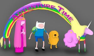 Adventure Time Wallpaper by underaoised