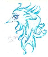 Blue Floating Creature by Kittychan2005