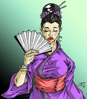 One More Geisha : color by Raikoh101